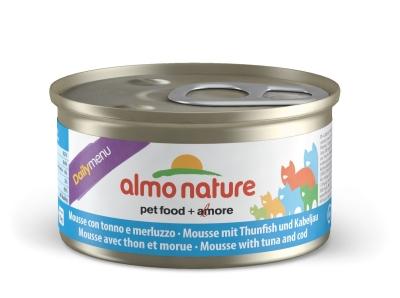 Almo Nature DailyMenu Mousse mit Thunfisch und Kabeljau 85 g
