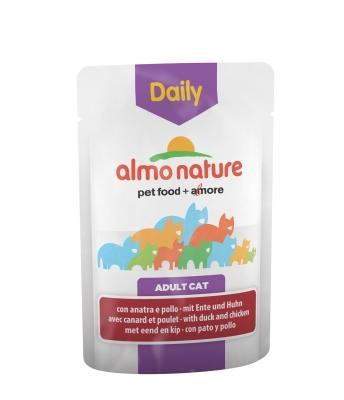 Almo Nature DailyMenu Häppchen in Sauce mit Huhn und Ente 70 g