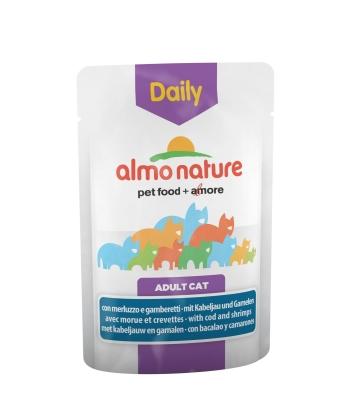 Almo Nature DailyMenu Häppchen in Sauce mit Kabeljau und Garnelen 70 g