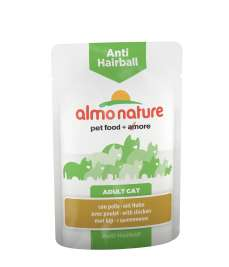 Anti-Hairball mit Huhn Almo Nature  8001154125894