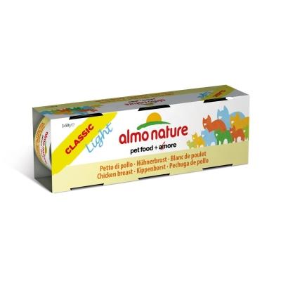 Almo Nature Classic Light cu Piept de Pui 3x50 g