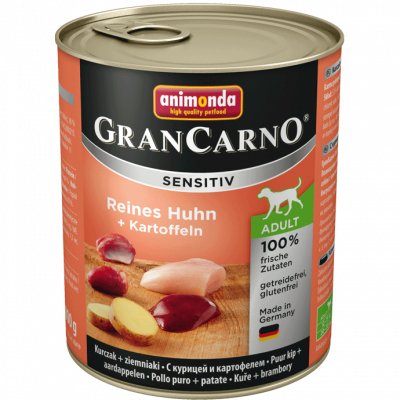 Animonda GranCarno Sensitive Adult Chicken + Potatoes  200 g, 800 g, 400 g