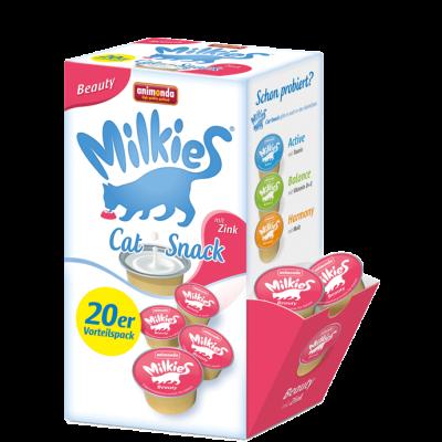 Animonda Milkies Beauty med extra zink 20x15 g, 4x15 g