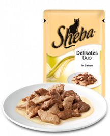 Sheba Portion sachets Delicate Duo Rabbit & Poultry in Sauce  12x85 g