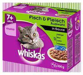 Whiskas Whiskas7+ Porsjonsposer 12x100 g, 24x100 g