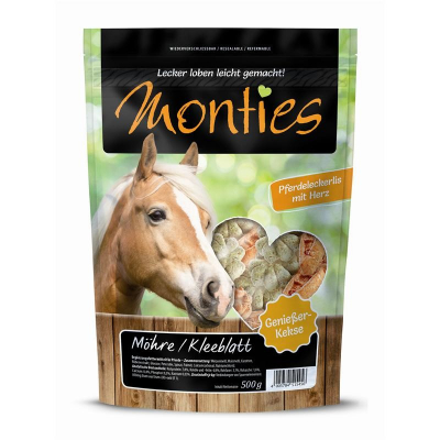 Monties Biscoitos Snack para Cavalo Cenoura & Trevo  500 g, 10 kg