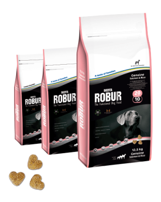 Bozita Robur Genuine Lachs & Reis  5 kg, 2 kg, 12.5 kg