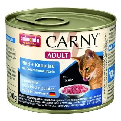 Animonda Carny Adult Nauta, turska & persiljanjuuri 6x200 g, 6x400 g, 800 g, 400 g, 200 g