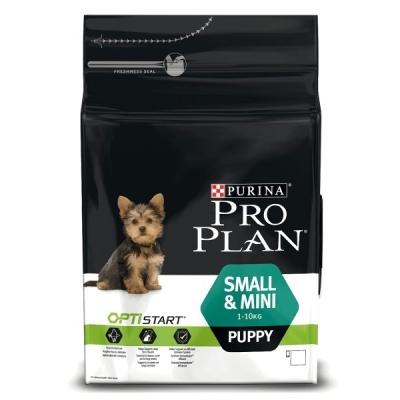 Purina Pro Plan Small & Mini Puppy - Optistart runsaasti Kanaa 3 kg Kana