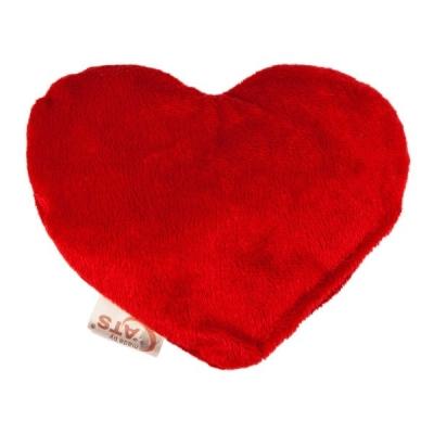4Cats  Schmuse-Herz mit Baldrian Rot 14x11 cm