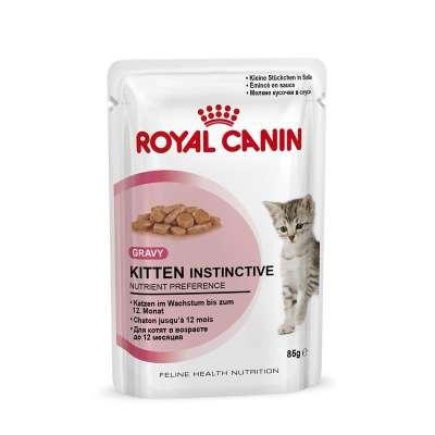 Royal Canin Feline Health Nutrition Kitten Instinctive i Saus 85 g