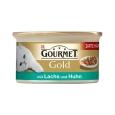 Purina Gourmet Gold Bocaditos en salsa con Salmón y Pollo encarga a precios magníficos
