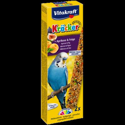 Vitakraft Kräcker Original + Aprikose-Feige für Wellensittiche  60 g, 54 g