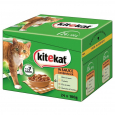 Kitekat 12 - Multipack Landpicknick in Saus 24x100 g - Kattenvoer met kalkoen