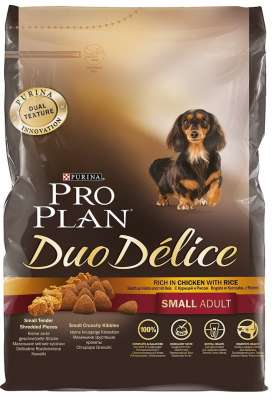 Purina Pro Plan Duo Delice Small Adult rig Kylling & Ris  4x2.50 kg