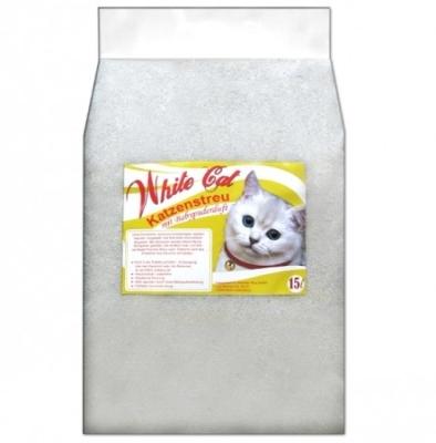 White Cat Katzenstreu mit Babypuderduft 15 l