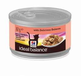 Hill's Ideal Balance Feline - Adult with Salmon  12x82 g