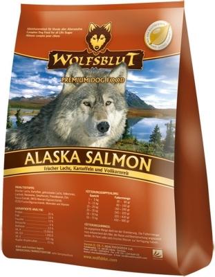 Wolfsblut Alaska Salmon, Somon, Cartofi cu Orez Brun  2 kg, 15 kg