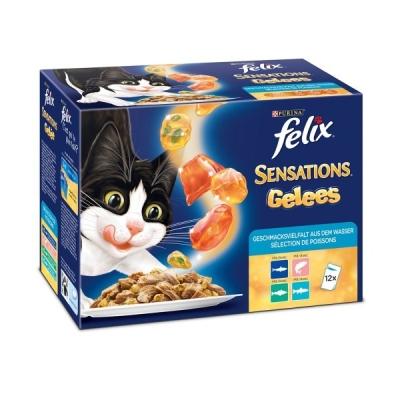 Felix Sensations Gelees Geschmacksvielfalt aus dem Wasser 12x100 g