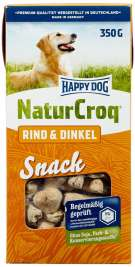 NaturCroq Snack Rind & Dinkel Happy Dog 4001967035834