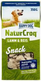Happy Dog NaturCroq Snack Lammasta & Riisiä  350 g