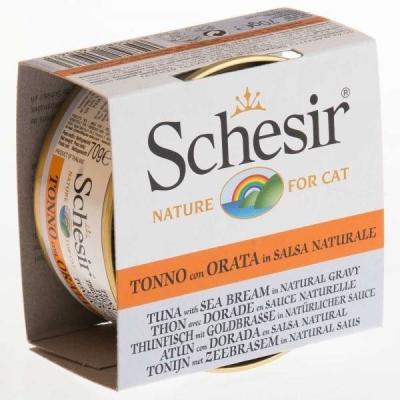 Schesir Thunfisch mit Goldbrasse in natürlichen Soße 70 g