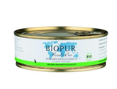 BIOPUR Rindmuskelfleisch Bio für Katzen 200 g, 100 g, 400 g