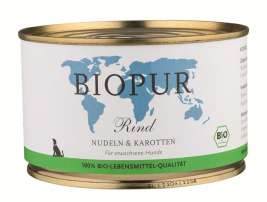 BIOPUR BIO Adults, Beef, Pasta and Carrots  400 g