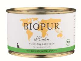 BIOPUR BIO Adults, Chicken, Pasta and Carrots  400 g
