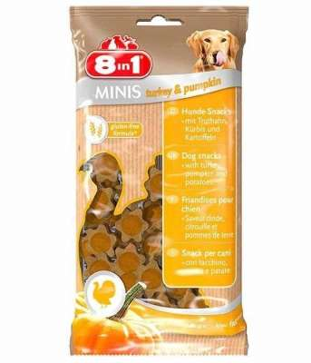 8in1 Minis Turkey & Pumpkin Indyk  & Dynia 100 g