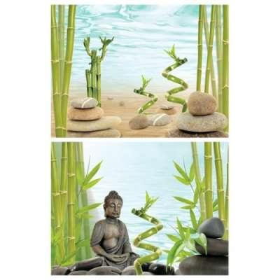 Tetra DecoArt Poster Buddha&Bamboo 450x600 mm