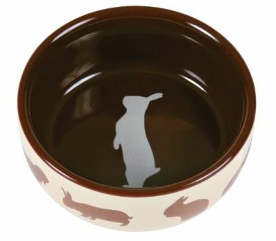 Trixie Keramiknapf mit Motiv, Kaninchen 250 ml
