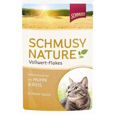 Schmusy Nature Vollwert Flakes Huhn & Reis 100 g