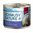 Schmusy Nature Pesce dell'Atlantico Sardina pura in Jelly Lattina 185 g economico