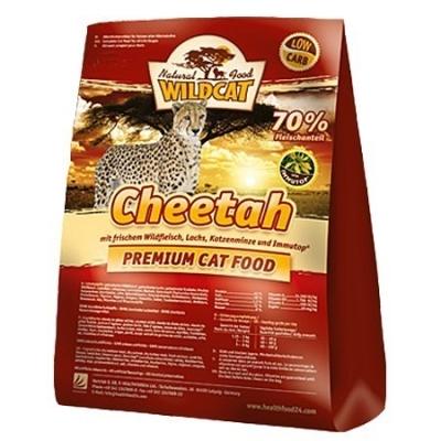 Wildcat Cheetah mit Wildfleisch, Lachs, Katzenminze und Immutop 500 g, 3 kg