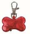 Trixie Flasher per Cani Bone, rosso