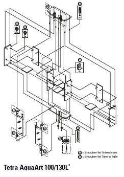 Tetra AquaArt Montageset Türen 100/130 l