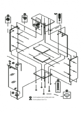 Tetra AquaArt Expl.Line Assembling set Door 30/60 l