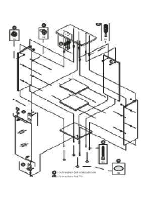 Tetra AquaArt Montageset Türen 60 l
