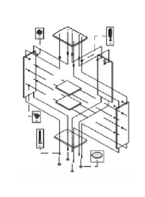 Tetra AquaArt Montageset Schrank 20/30/60 l