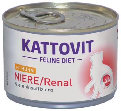 Kattovit Feline Diet Niere/Renal mit Huhn 175 g, 85 g