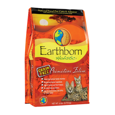 Earthborn Holistic Primitive Feline 6.36 kg, 120 g