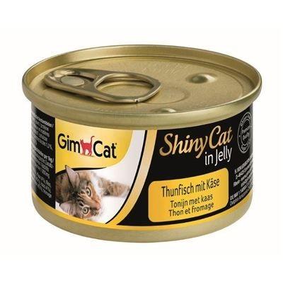 GimCat ShinyCat in Gelei Tonijn + Kaas 70 g