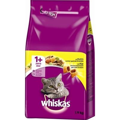 Whiskas Torrfoder 1+ Kyckling 14 kg, 1.4 kg, 350 g, 950 g, 3.8 kg, 800 g, 1.9 kg, 300 g