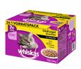 Whiskas Pouches 24 Multipack 7+ Poultry variation in gravy 24x100 g - Krmivo pro staré kočky