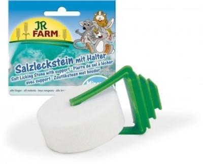 JR Farm Salzleckstein mit Halter  80 g