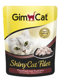 ShinyCat Filet Thunfisch mit Truthahn, Pouch GimCat  4002064414232