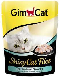 ShinyCat Filet Thunfisch + Garnelen, Pouch GimCat  4002064412863
