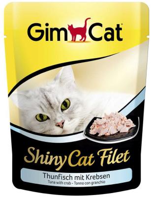 GimCat ShinyCat Filet tonijn met krab 70 g