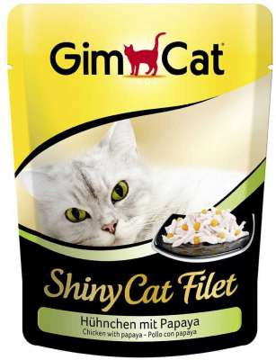 GimCat ShinyCat Filet kip met papaja 70 g